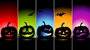 multi halloween pumpkins color