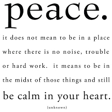 peace in heart