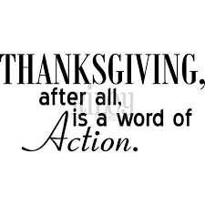 tgiving word of action