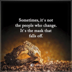 sometimes people not change mask falls off