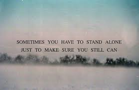 sometimes stand alone